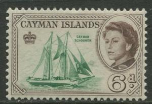 Cayman Islands - Scott 160 - QEII Definitive -1962 - MVLH- Single 6d  Stamp