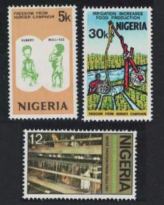 Nigeria Freedom from Hunger Campaign 3v SG#328-330