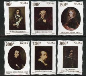 Poland Scott 3070-75 MH* 1992 Painting set