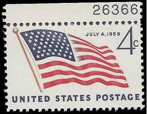 #1132 4c 49-Star American Flag 1959 Mint NH