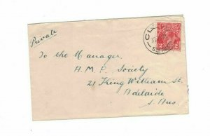 APH1459) Australia 1931 2d Red KGV Die III Small Cover