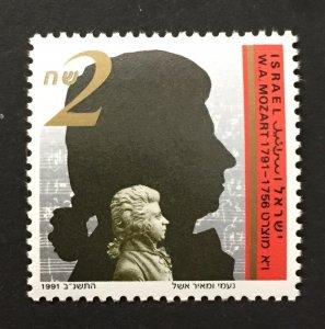 Israel 1991 #1101, Mozart, MNH.