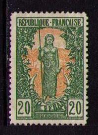 FRENCH CONGO Sc# 41 USED VGF Bakalois Woman Spear 20c