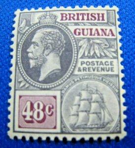 BRITISH GUIANA  1913  -  SCOTT # 185  -   MH         (X7)