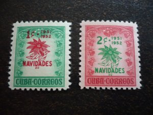 Stamps - Cuba - Scott#469-470  - Mint Hinged Set of 2 Stamps