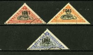 Liberia Stamps # F25-8 VF USED With/Inverted Surcharge