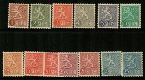 Finland Scott 312-23 Mint hinged (Catalog Value $55.15)
