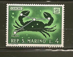San Marino 719 Cancer MNH