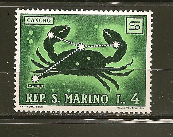 San Marino 719 Cancer MNH