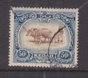 KEDAH, MALAYSIA, 1921, type I, 50c. Brown & Blue, used.