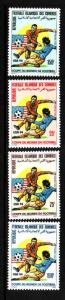 Comoro Is.-Sc#801-4-unused NH set-Sports-World Cup Soccer-USA 94-