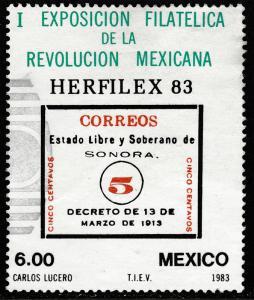 MEXICO 1311, Philatelic Expo. Mexican Revolution Used. VF. (999)