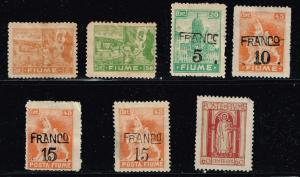 ITALY STAMPS COLLECTION LOT #T7  FIUME