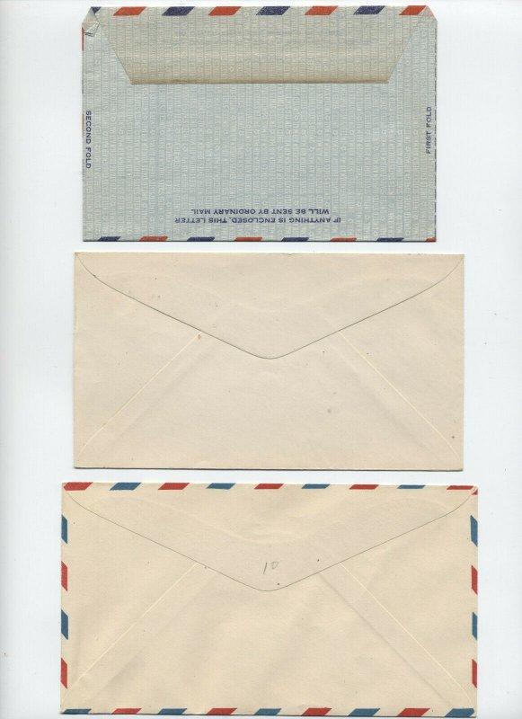 3 unused earlier airmail stationery items [y6598]