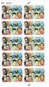 Costa Rica 558 MNH Sheet of 10 Blocks of 4 (SCV $22.50)