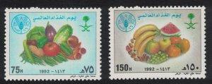 Saudi Arabia World Food Day 2v 1992 MNH SC#1167-1168 SG#1806-1807 MI#1159-1160