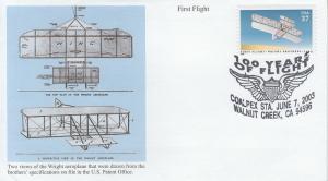 2003 First Flight Centennial Walnut CreekCA Pictorial Mystic