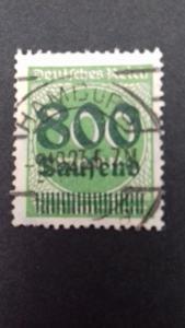 Germany Scott 267 Overprint 1923 CV 1500 Euro