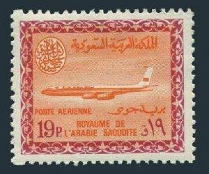 Saudi Arabia C51,MNH.Mi 259. Air Post 1966.Saudi Airline Boeing.Saud Cartouche.