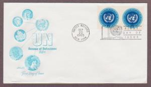 UN # 149 , UN Emblem Pair on Artmaster FDC - I Combine S/H