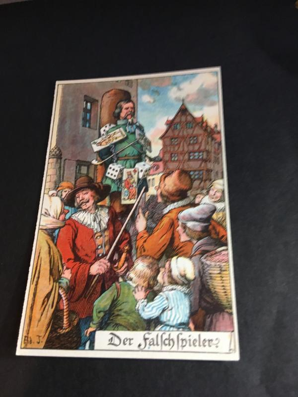 Germany Set of 8 Unused Postcards c.1920s Featuring Diff. Punishments Est.$60 VF