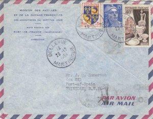 1954, Bellevue, Martinique to Port-of-Spain, Trinidad, See Remark (32410)