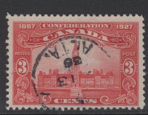 CANADA SG268 1927 3c CARMINE USED