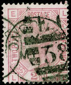 SG141, 2½d rosy mauve PLATE 14, USED, CDS. Cat £60. LE