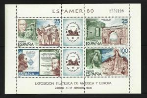 Spain, ESPAMER 80 souvenier sheet