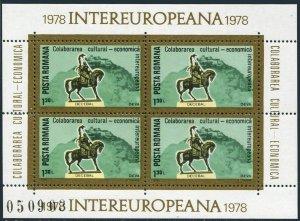 Romania 2767a-2768a,MNH.Mi Bl.151-152. Inter-European cooperation,1978.Statues.