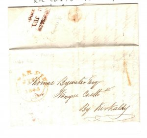 GB Scotland Cover Fife *CUPAR* CDS EL Kirkaldy 1845{samwells-covers}ZA271