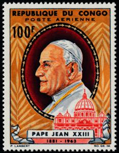 Congo PR C28 MNH Pope John XXIII, St Peter's Cathedral