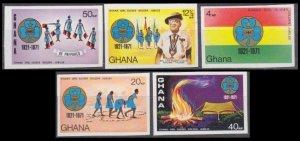 1971 Ghana 434-438b Scouts 60,00 €
