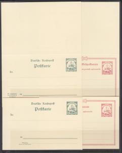 Togo Mi P9-P12 mint 1900 Postal & Postal Reply Double Cards, cplt