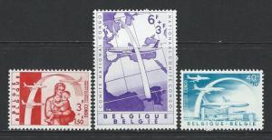 BELGIUM - #B669-#B671 - CONGO REFUGEES SEMI-POSTALS SET (1960) MNH