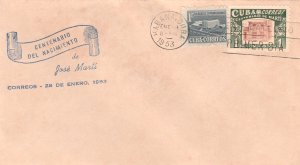 1953 Cuba Stamps Sc 501 Jose Marti Centenary FDC