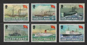 Isle Of Man #168-173 VF MNH - 1980 7p To 15p Steam Packet Co