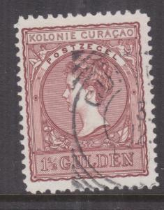 CURACAO, 1906 Wilhelmina 1 1/2g. Red Brown, used.