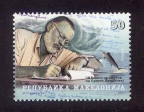 Macedonia Sc# 576 MNH Ernest Hemmingway