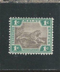 FMS 1904-22 1c GREY-BROWN & GREEN MM SG 27a CAT £50