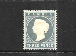 GAMBIA  1886-93  3d  QV  MH  SG 28