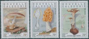 New Caledonia 1998 SG1130-1132 Edible Mushrooms set MNH