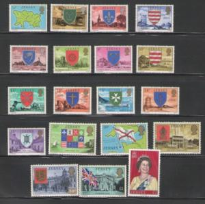Jersey Sc 137-55 1975 long stamp set mint NH