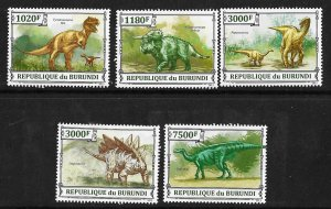 Burundi MNH Set Of 5 Dinosaurs 3012