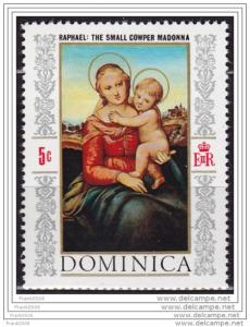 Dominica 1968, The Small Cowper Madonna by Raphael, sc#241, MLH