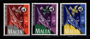 MALTA 1970 MNH SC.420/422 UN 25th