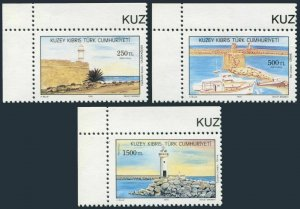 Turkish Cyprus 314-316,MNH.Michel 320-322. Lighthouses,1991.