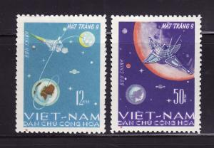 North Vietnam 429-430 Set U Space, Satellites (A)