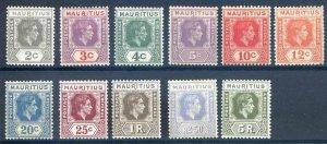 Mauritius SG252/262 Mounted Mint