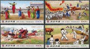 Korea 2019. Korean Folk Customs (MNH OG) Set of 4 stamps